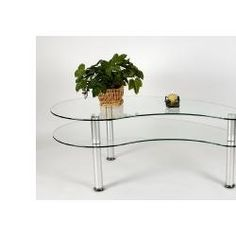Coffee Table in Glass and Aluminum Finish RTA CT-020