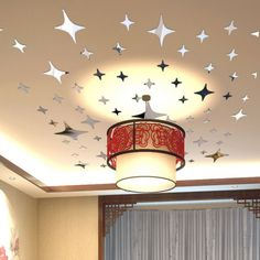 2015 Twinkle Stars Sky Ceiling Decor Crystal Reflective Decal Art DIY Mirror Effect Wall Stickers Home TV Background(China (Mainland))