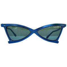 e1b04c304b2 1950 s French Sapphire Blue Stylized Sunglasses