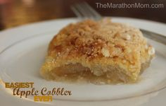 Easy Apple Cobbler :: TheMarathonMom.com