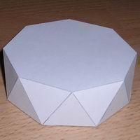 Paper model octagonal antiprism