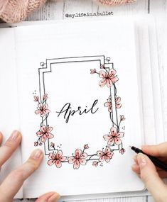 bullet journal bujo Schriftzug Kaligraphie Blumen d bullet journal bujo lettering calligraphy flowers d / Bullet Journal Inspo, Journal D'inspiration, April Bullet Journal, Bullet Journal Aesthetic, Bullet Journal Notebook, Study Journal, Journal Covers, Bullet Journal Cover Page, Bullet Journal Inspiration Creative