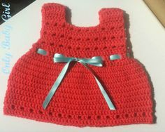 Crochet dress handmade for 1/3 months one piece by Onlybabygirl,