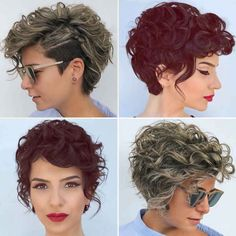 Spring Summer Trends, Short Hair Cuts, Hair Trends, Health And Beauty, Pixie, Primavera Estate, Hair Beauty, Hairstyle, Curly Haircuts