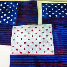 telas Bandeiras Americanas  em pintura acrilica e tecnica mista  2013 - acrylic on canvas -  Melina Ollandezos