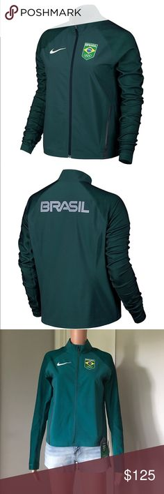 ✔️NWT Nike Flex Team Brazil Full Zip Jacket Brand new. Full zip. Pockets on the side. 2 available sizes, S & M. Ships within 24 hrs. Nike Jackets & Coats