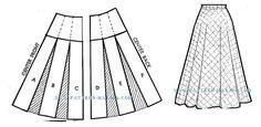 Drafting The Two-Piece Semi-Circular Skirt Skirt Patterns Sewing, Clothing Patterns, Collar Pattern, Sleeve Pattern, Jacket Pattern, Top Pattern, Pattern Cutting, Pattern Making, Pattern Drafting