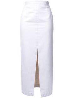frontal slit mid skirt