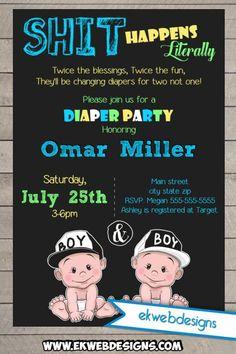 24 Best Diaper Party Invites Images Boy Shower Diaper Parties