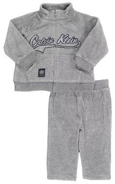 Calvin Klein Infant Boys Medium Gray 2Pc Velour « Clothing Impulse