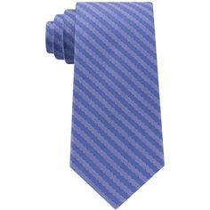 Michael Kors Men's Striped Unsolid Solid Silk Tie ($65) ❤ liked on Polyvore featuring men's fashion, men's accessories, men's neckwear, ties, blue, mens ties, mens striped ties, mens silk ties and mens blue tie