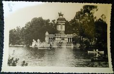 Postal antigua 19. MADRID Estanque del Retiro HAE
