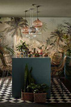 Lounge Design, Bar Lounge, Cafe Interior Design, Interior And Exterior, Interior Decorating, Interior Design Wallpaper, Interior Tropical, Tropical Furniture, Tropical Home Decor