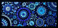 Large beautiful Glass on Glass mosaic window panel