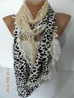 New Leopard Scarf Elegant scarf  Fashion scarf  by MebaDesign,