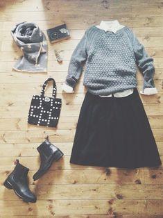 tops/YAECA nano universe skirt/無印良品 shoes/SHIPS