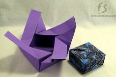 This is how to make an Origami gift box. I LOVE Origami! Origami And Kirigami, Paper Crafts Origami, Origami Stars, Origami Flowers, Diy Paper, Easy Origami, Oragami, Origami Gift Box, Origami Ball