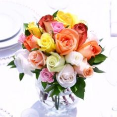 Wedding Center Piece Royal Assorted Roses 12