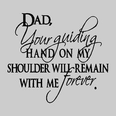 in Loving Memory Of My Dad on daddys wall quotes decal
