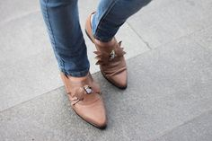 Brown Leather Shoes Flat leather by KatzAndBirds....really cute.
