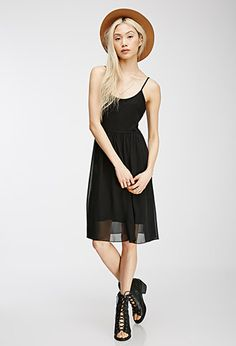 Fit & Flare Combo Cami Dress | Forever 21 - 2000082413