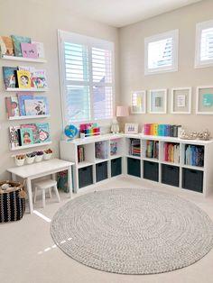 Small Playroom, Toddler Playroom, Playroom Design, Playroom Decor, Playroom Ideas, Boy Decor, Small Kids Playrooms, Montessori Toddler Rooms, Living Room Playroom