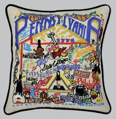 State Pillows: Pennsylvania State Pillow