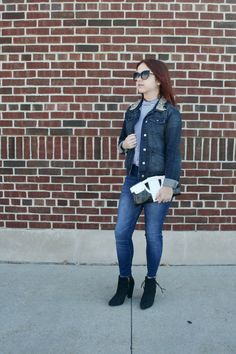 Denim on Denim: An OOTD on Five Foot and Fabulous!