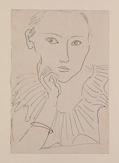 Portrait de femme à la collerette et au bracelet, by Henri Matisse