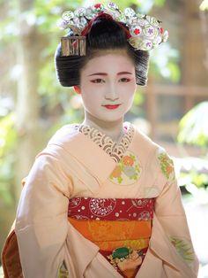 maiko 舞妓 Kamishichiken 上七軒 Naoai 尚あい KYOTO JAPAN