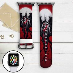 Batman and Harley Quinn DC Comics Custom Apple Watch Band Leather Strap Wrist Band Replacement