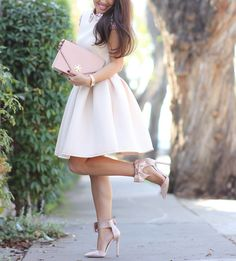 ASOS Embellished Collar Dress, Great Bow Heels. Pretty Bag