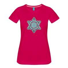 Wasserkristall Dankbarkeit mit Blume des Lebens T-Shirts - Women's Premium T-Shirt