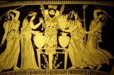 Bee Priestesses/Meanads making sacred ecstatic Honey Mead for Bacchus Dionysian ritual Ancient Goddesses, Greek Gods And Goddesses, Ancient Greek Art, Ancient Greece, Greek Pantheon, Greek Pottery, Greek Culture, Mother Goddess, Sacred Feminine