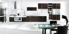 modern kitchen | Modern Black and White Kitchen Design: Modern Black and White Kitchen ...