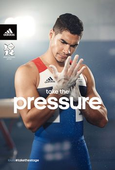 Louis Smith features in one of the adidas Take the Stage campaign posters