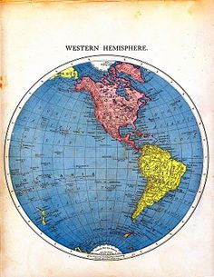 Vintage Printable - Map of the World - Part 1 - The Graphics Fairy