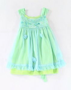 06878d5d3 (Sponsored)eBay - Bonnie Jean NEW Blue Green Baby Girls Size 4T Tulle Tie
