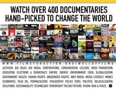 filmsforaction.org's wall of films - more than 400 documentaries about social change that you can watch online for free.