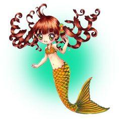 Mermaid Oceane Digi Stamp in Digital images