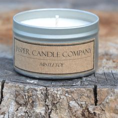 Mistletoe  Soy Candle  Hand Poured  by JasperCandleCompany on Etsy