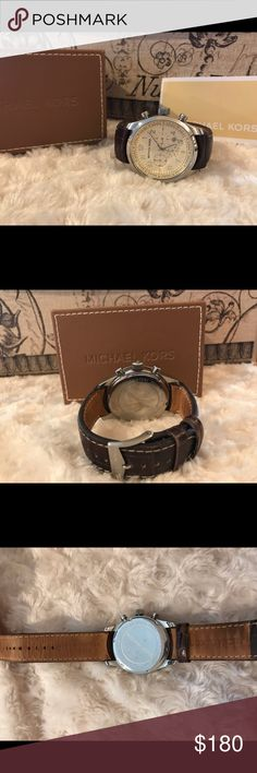 ⌚️Michael Kors chonografo watch men's ⌚️ 100% authentic, date mk-8017, original box 📦 10 ATM, / 100 meters, all stainless steel, Works perfect :) Michael Kors Accessories Watches