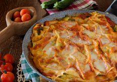 Lasagne+senza+forno+zucchine+mozzarella+pomodoro