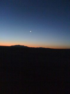 Night time in the Imperial Valley Desert