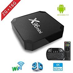 H96 Max+ TV Box Android 9.0 [4GB RAM+64GB ROM] 4K Ultra HD Boîtier TV RK3328 Cortex-A53 64 Bits Quad-Core Bluetooth 4.0 Dual Band WiFi 2.4G/5GHz LAN100M USB 3.0 with Wireless Mini Backlit Keyboard: Amazon.fr: High-tech