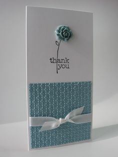 stamping up north: Clean and Simple Thankyou Card