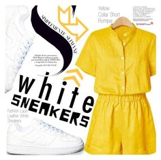 """""""Bright White Sneakers"""" by vanjazivadinovic ❤ liked on Polyvore featuring sammydress, polyvoreeditorial and whitesneakers"""