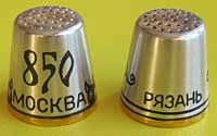 Velikiy Ustug Modern These thimbles are created by blackening silver