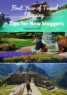 first year of travel blogging and tips for new bloggers pin
