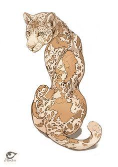 GEOpard by AlectorFencer on DeviantArt - Happy Tiere Big Cats Art, Cat Art, Kunst Inspo, Art Inspo, Art And Illustration, Fantasy Kunst, Fantasy Art, Animal Drawings, Art Drawings